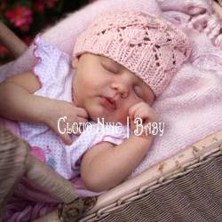 Sale -- Baby Beanie Hat -- Photography Prop -- Lace Flowers